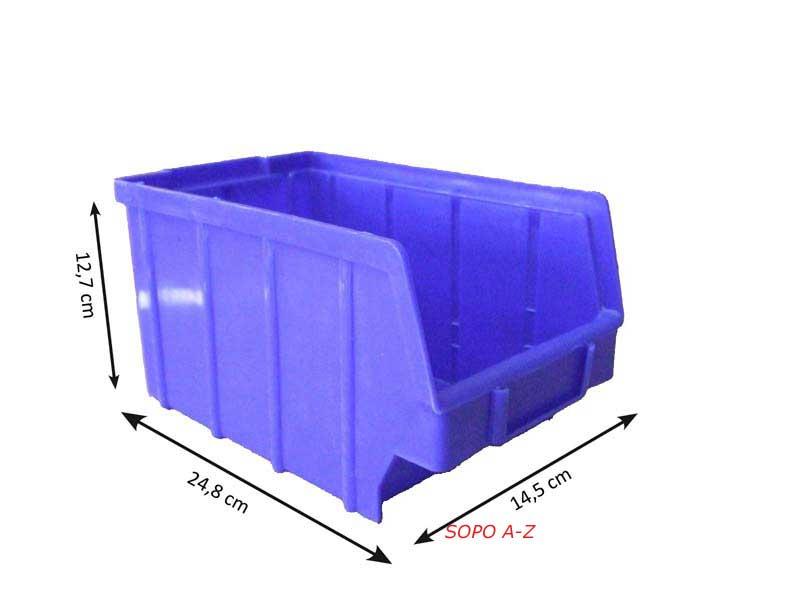 sichtlagerboxen stapelboxen gr 3 schraubenbox blau und gr n ebay. Black Bedroom Furniture Sets. Home Design Ideas