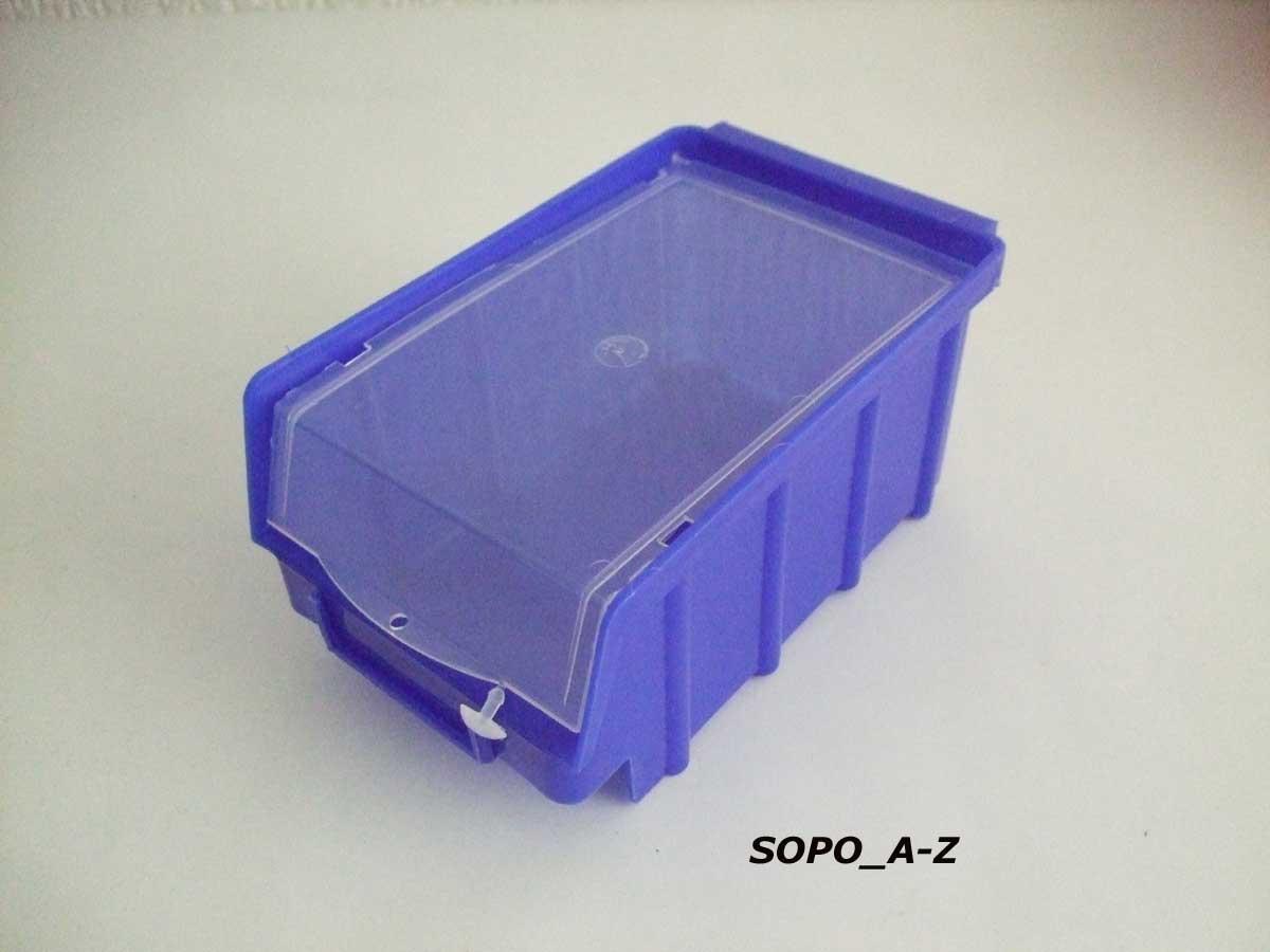 stapelboxen gr 2 40 st ck mit wandschienen und deckel. Black Bedroom Furniture Sets. Home Design Ideas