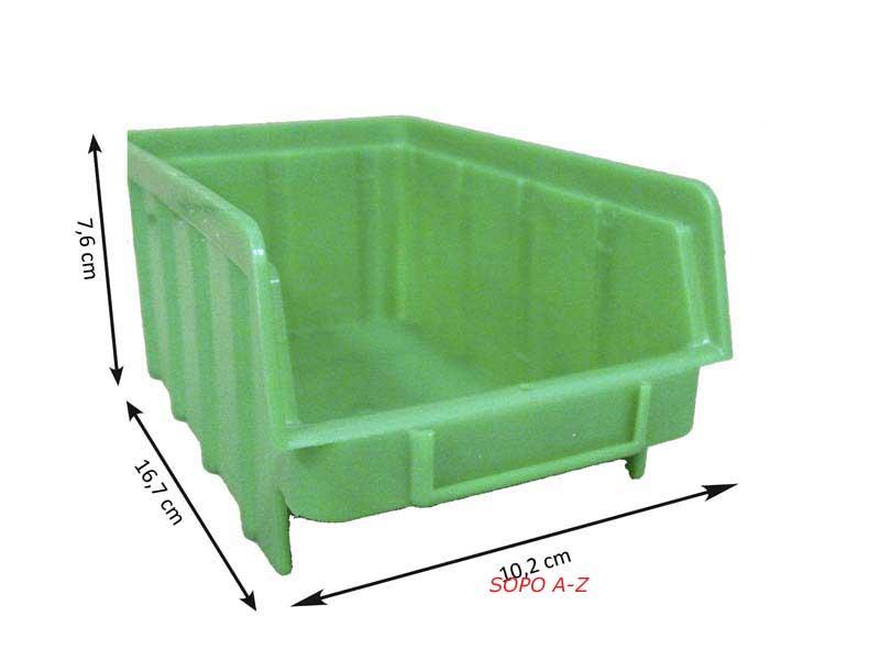 sichtlagerboxen gr 2 40 st ck mit deckel schraubenbox gr n. Black Bedroom Furniture Sets. Home Design Ideas