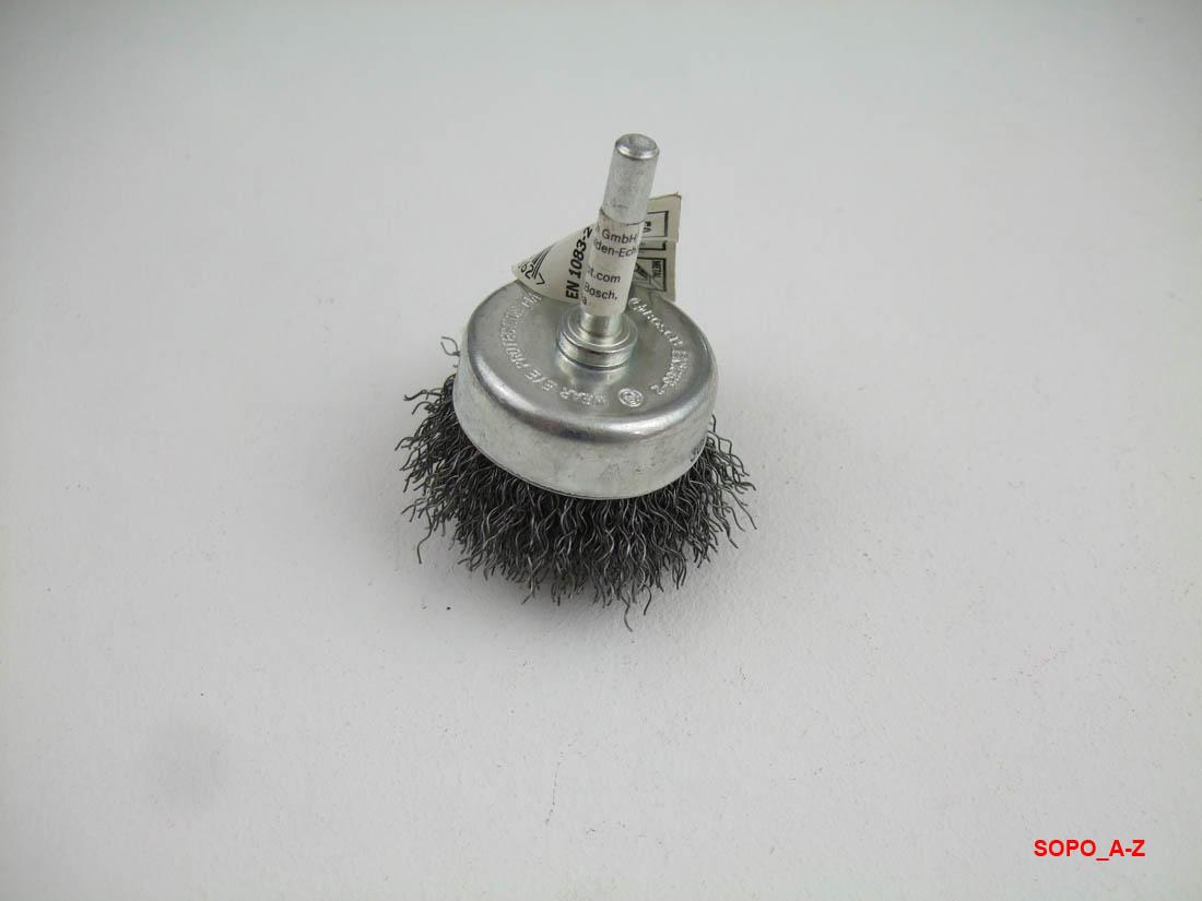 gewellter Draht 2607017123 Bosch Topfb/ürste f/ür Bohrmaschinen /Ø 75 mm