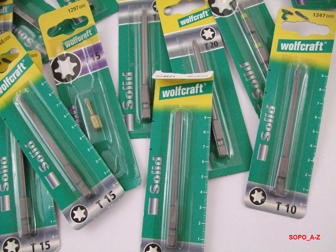 Wolfcraft 3 Bits Solid  TOX T 15  2477000