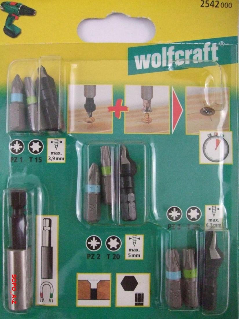 Sicherheitsbits Bitsatz 3 tlg SOLID Bits Square Plus 1-2-3 wolfcraft