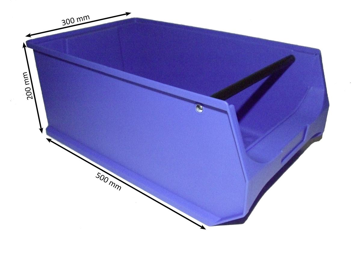 sichtlagerboxen gr 5 stapelboxen lagerkisten blau stabil 4 st ck ebay. Black Bedroom Furniture Sets. Home Design Ideas