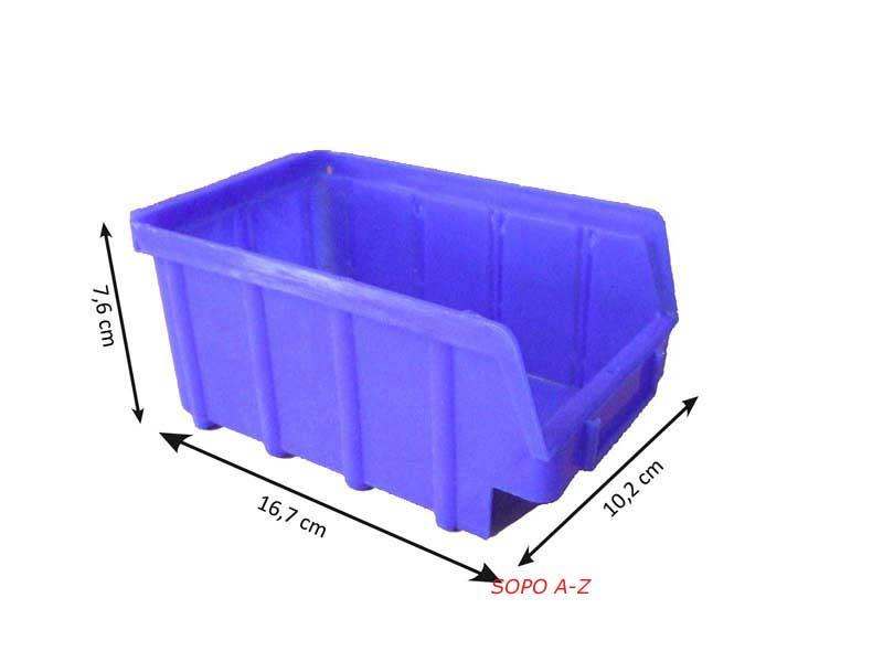 Stapelboxen Gr 2 Schraubenbox Sichtlagerbox blau 20 Stück